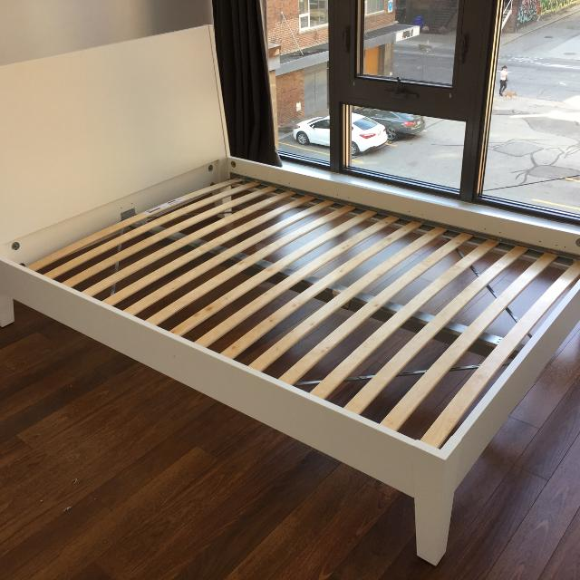 IKEA NORDLI Bed Frame with Slats (Double) - 3 years old
