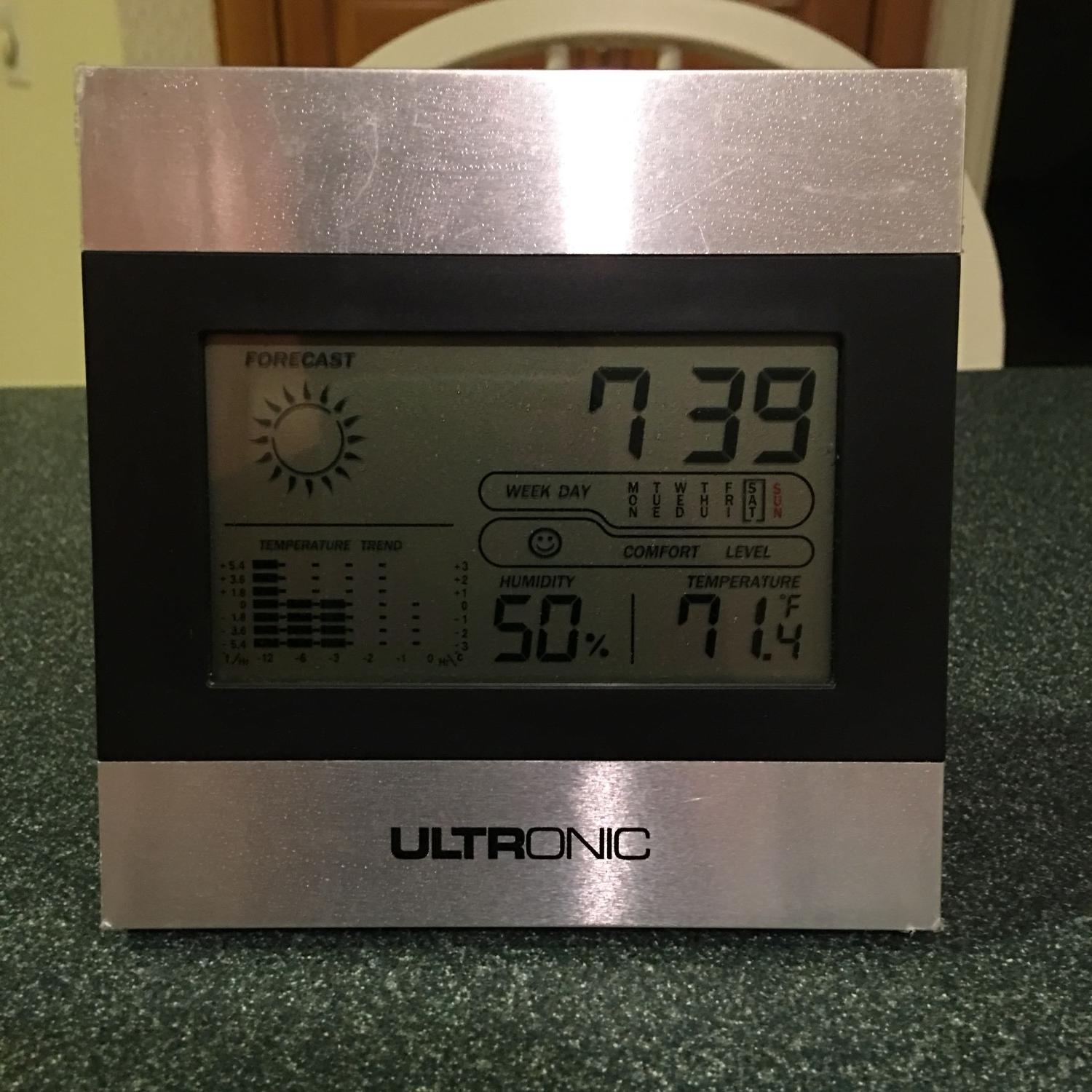 ultronic weather station clock manual