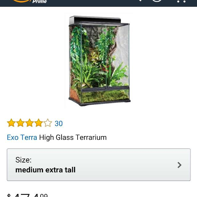 Find More Exo Terra 24 X 18 X 36 Glass Terrarium For Sale At Up To