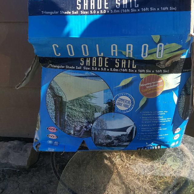 Best Coolaroo Shade Sail 5 0x5 0 16ft 5 Inx16ft 5in For Sale In
