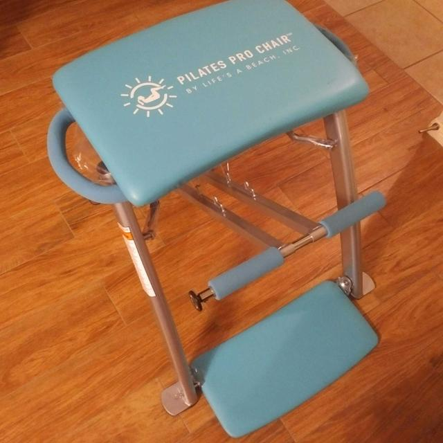 """New Used Pilates Chair For Sale: Best Pilates Pro Chair + 4 Dvds """"life's A Beach"""" For Sale"""