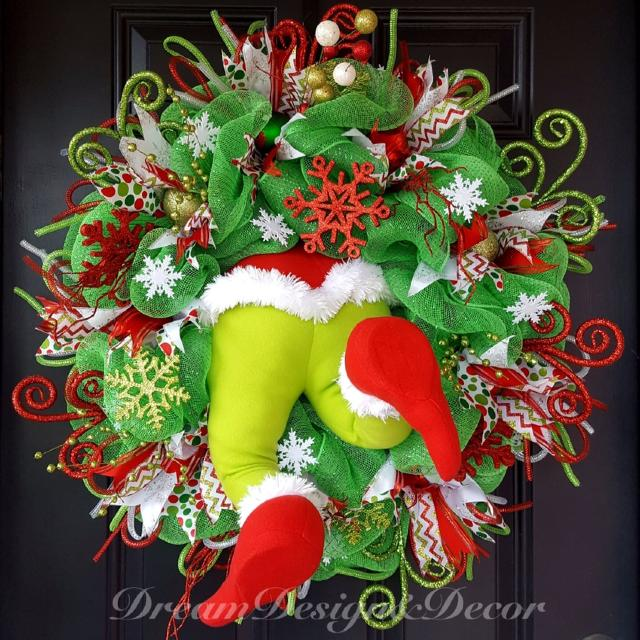 christmas wreath the grinch