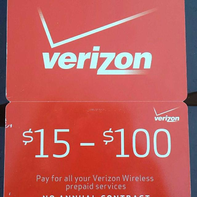 Verizon Prepaid Refill Card $60