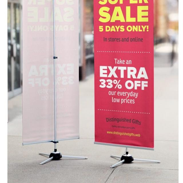 H Banner Stand From Vistaprint