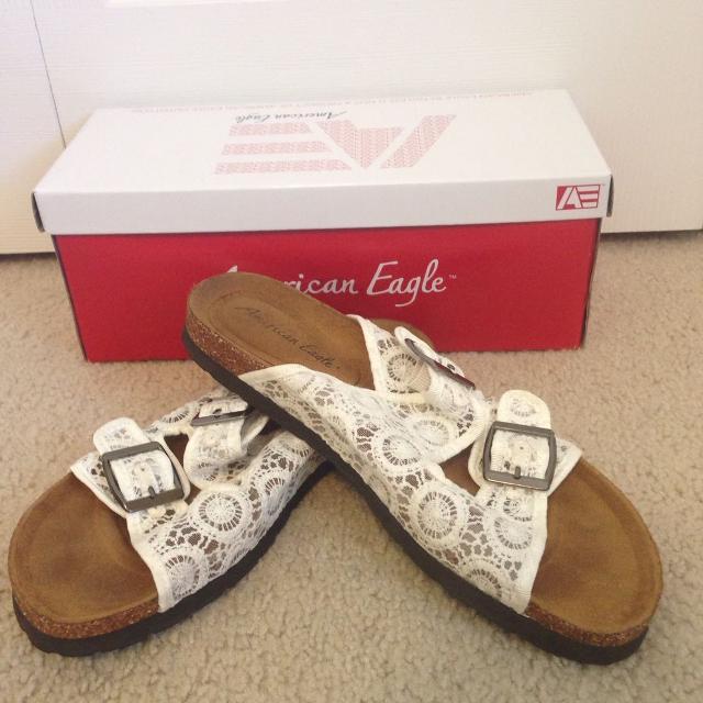 ed979ec66fb9 Find more Lace American Eagle Sandals - Size 8.5 for sale at up to ...