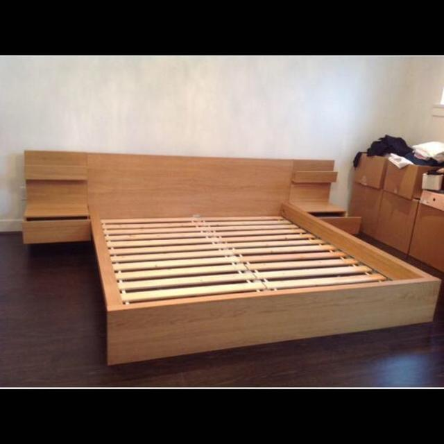 Find more Ikea Double Malm Bed With Side Tables for sale at up to 90 ...