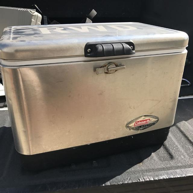 Stainless steel Coleman cooler