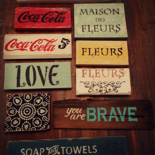 Small Rustic Wooden Signs In Sarnia