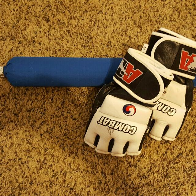 ATA combat weapon and gloves