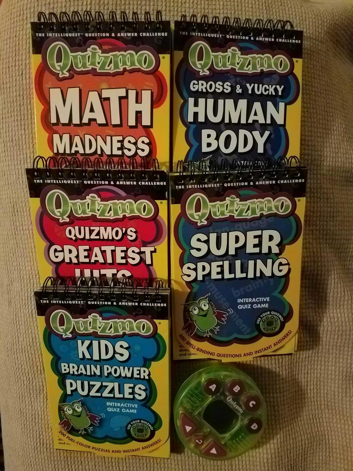 Quizmo- Intelliquest Questions & Answers Challenge- includes 5 different  interactive quiz games (each flip book retails $7)