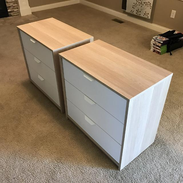 3 Drawer Chest (set Of 2) For