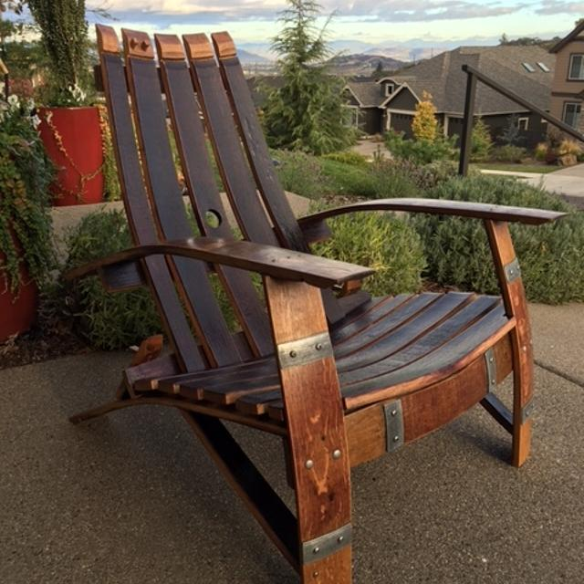 Best Adirondack Chair From Oak Wine Barrel For Sale In Medford