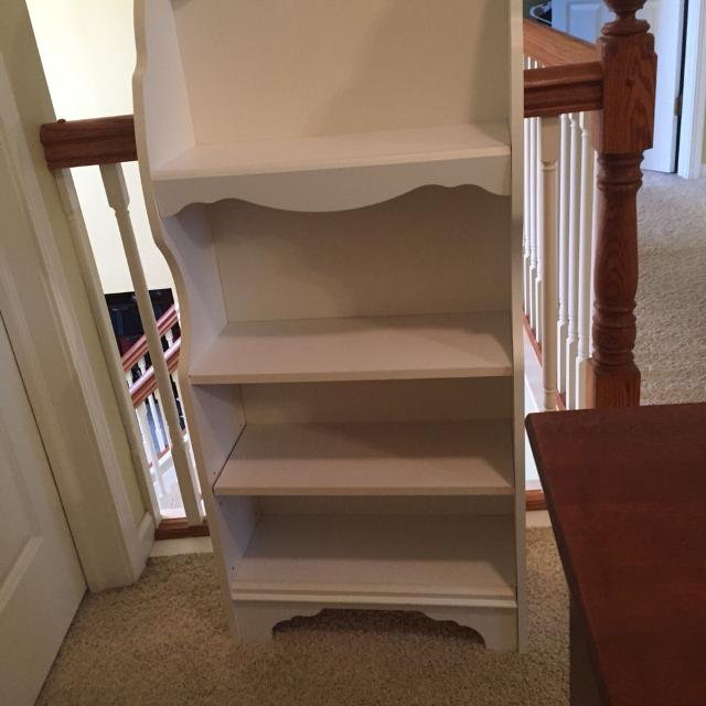 White Bookcase 50 Non Smoking Home 50 Inches Tall 21 3 4 Inch Wide And 8 1 2 Inches Deep Good Condition