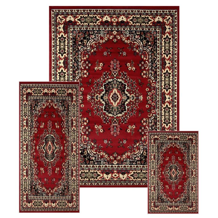 Oriental Rugs Jupiter Florida: Best 3 Pcs Area Rug Oriental Bordered Runner Mat Set For