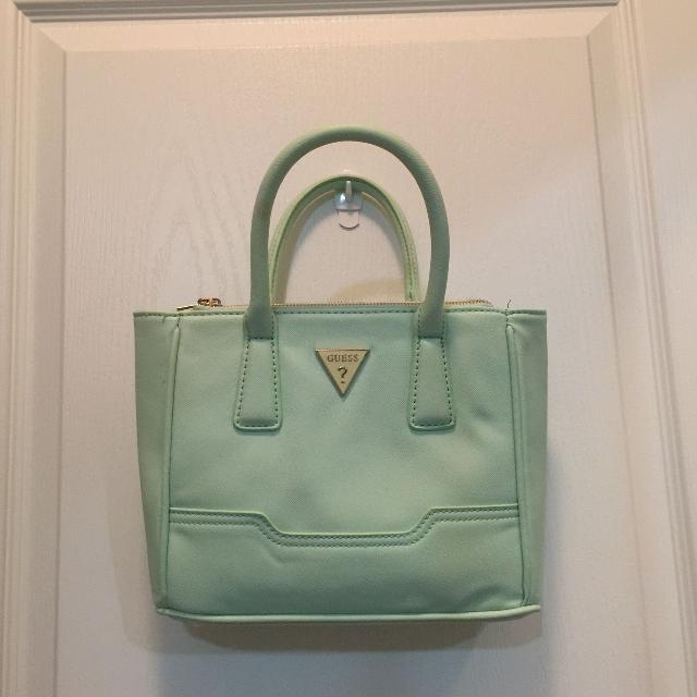 fbf27ec9a2bc Find more Guess Handbag In Mint Green for sale at up to 90% off