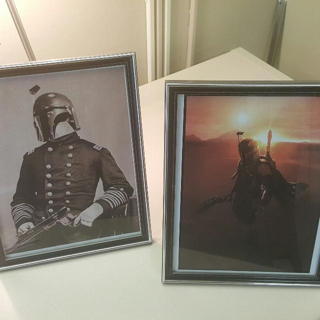 find more two star wars 8x11 prints in frames boba fett for sale at