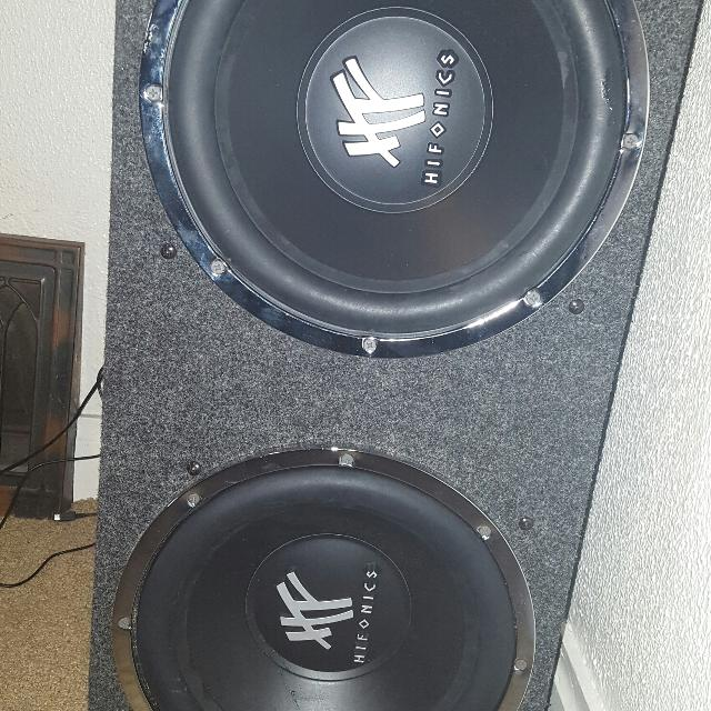12' hifonics dvc subs like new condition in a sealed box
