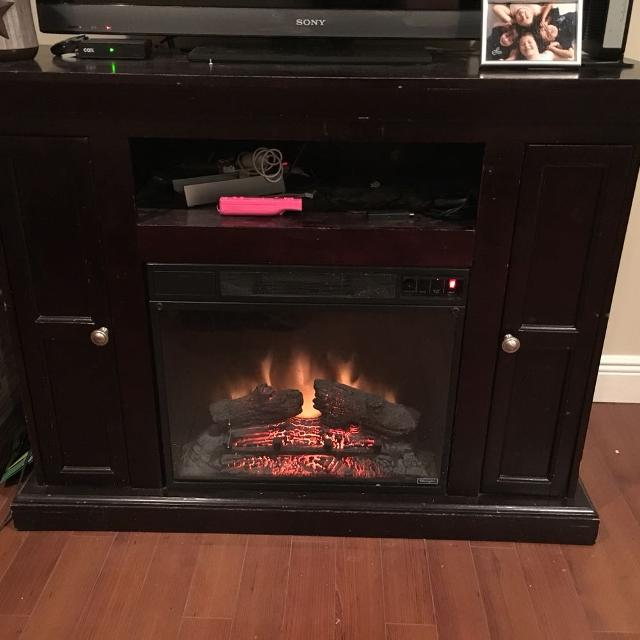 Best Cherry Wood Electric Fireplace Tv Stand For Sale In Metairie