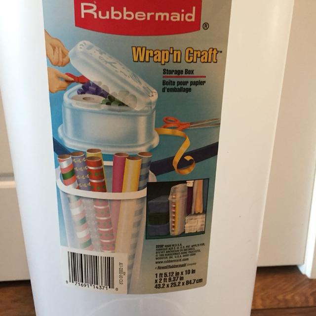 Find More Rubbermaid Quot Wrap N Craft Quot Storage Box For Sale