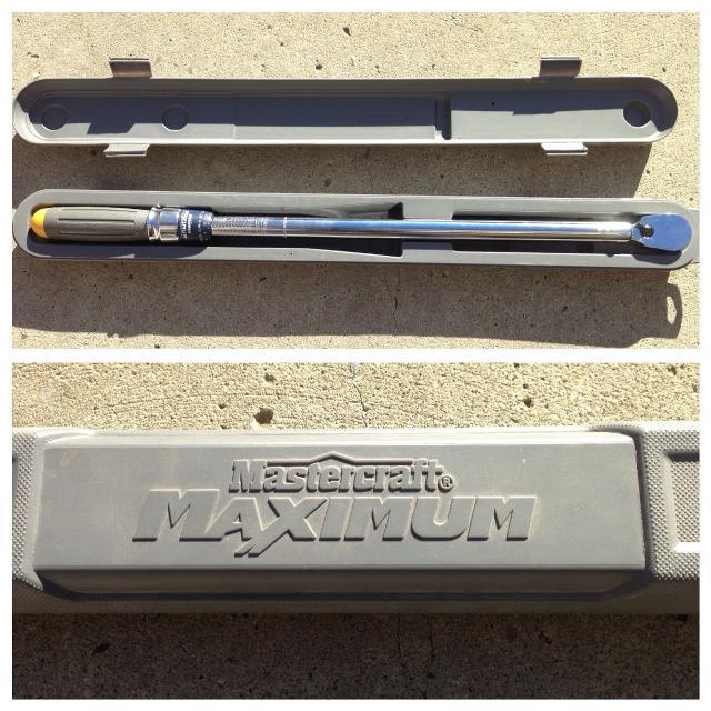 Mastercraft maximum torque wrench manual