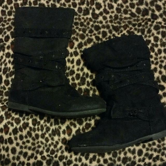Size 8 Toddler Black Fashion Boots