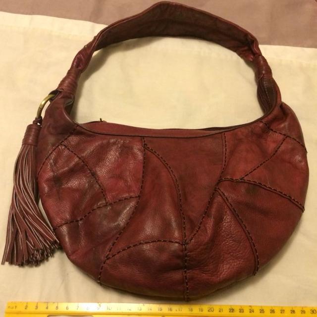 Like New Genuine Leather Sabrina Scala Handbag
