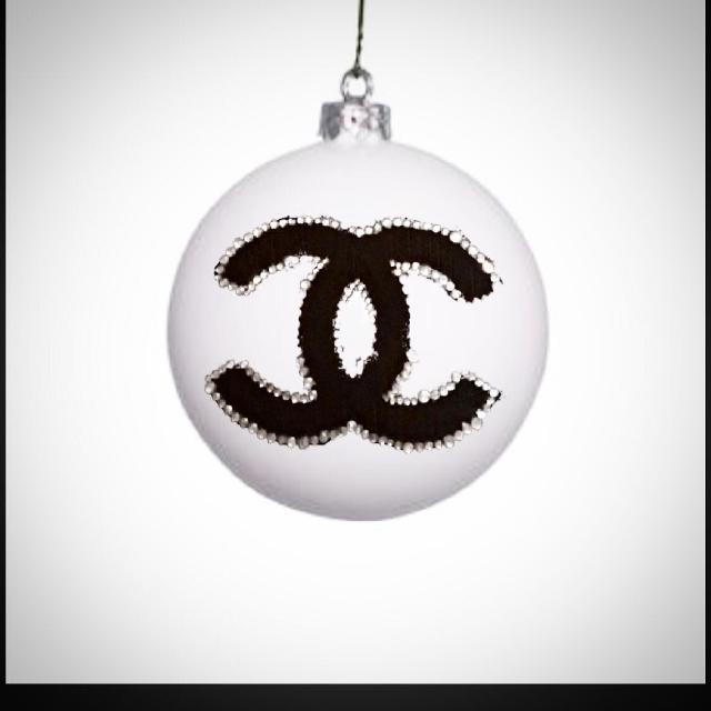 Chanel Christmas Ornaments.Chanel Inspired Ornaments