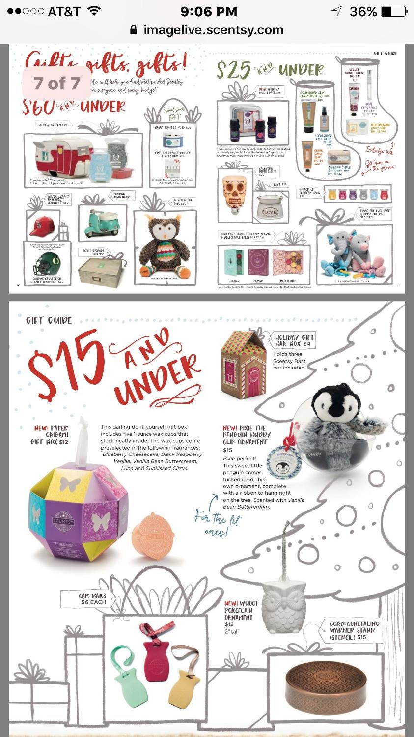 Scentsy Christmas Gifts.Scentsy Christmas Gifts Under 15 Add Shipping And Tax