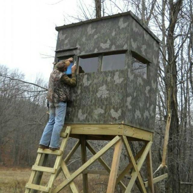 Tree stand box 100 images a treestand falls but for Unique deer blinds