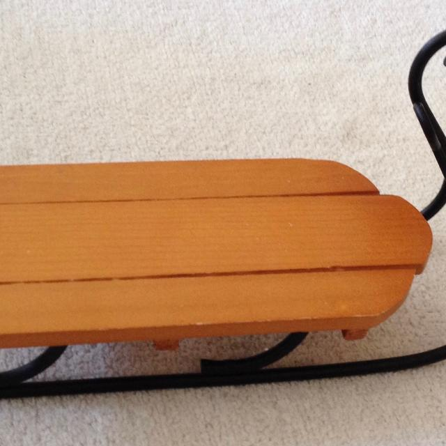 7 X 2 34 Dollbearcraft Wood Sled With Metal Runners