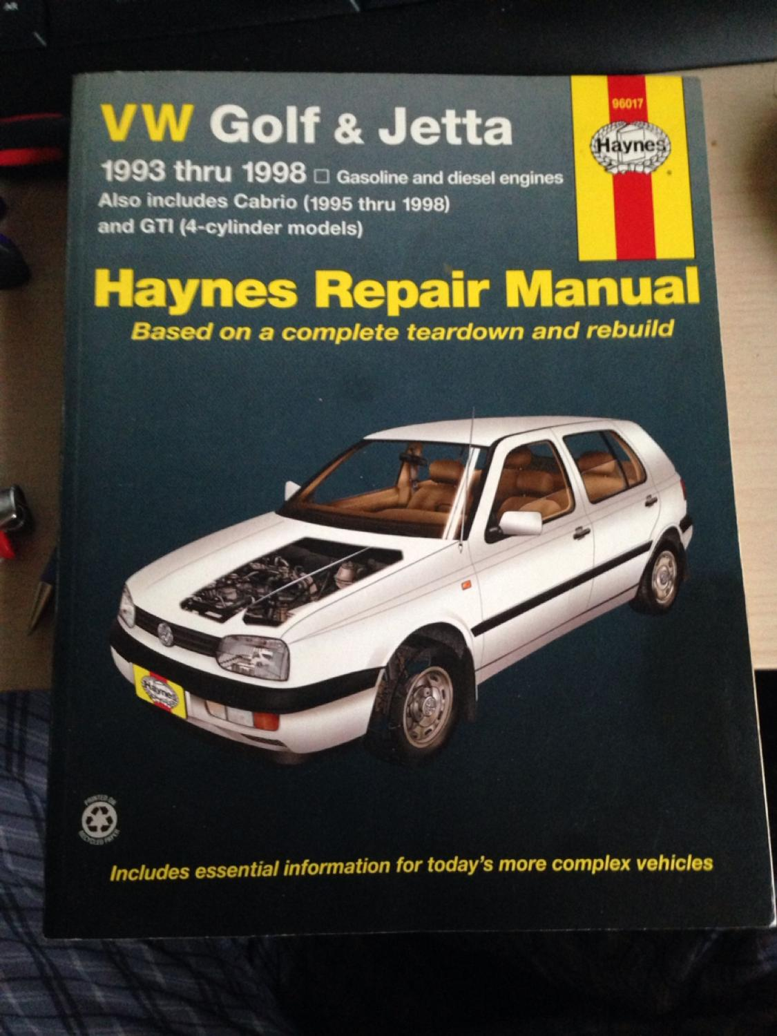 Best Volkswagen Golf & Jetta Repair Manual. 1993 - 1998 for sale in  Vaudreuil, Quebec for 2018