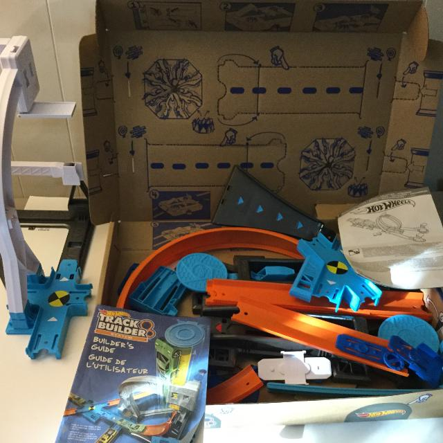 Find More Hot Wheels Track Builder System With Box And Instructions