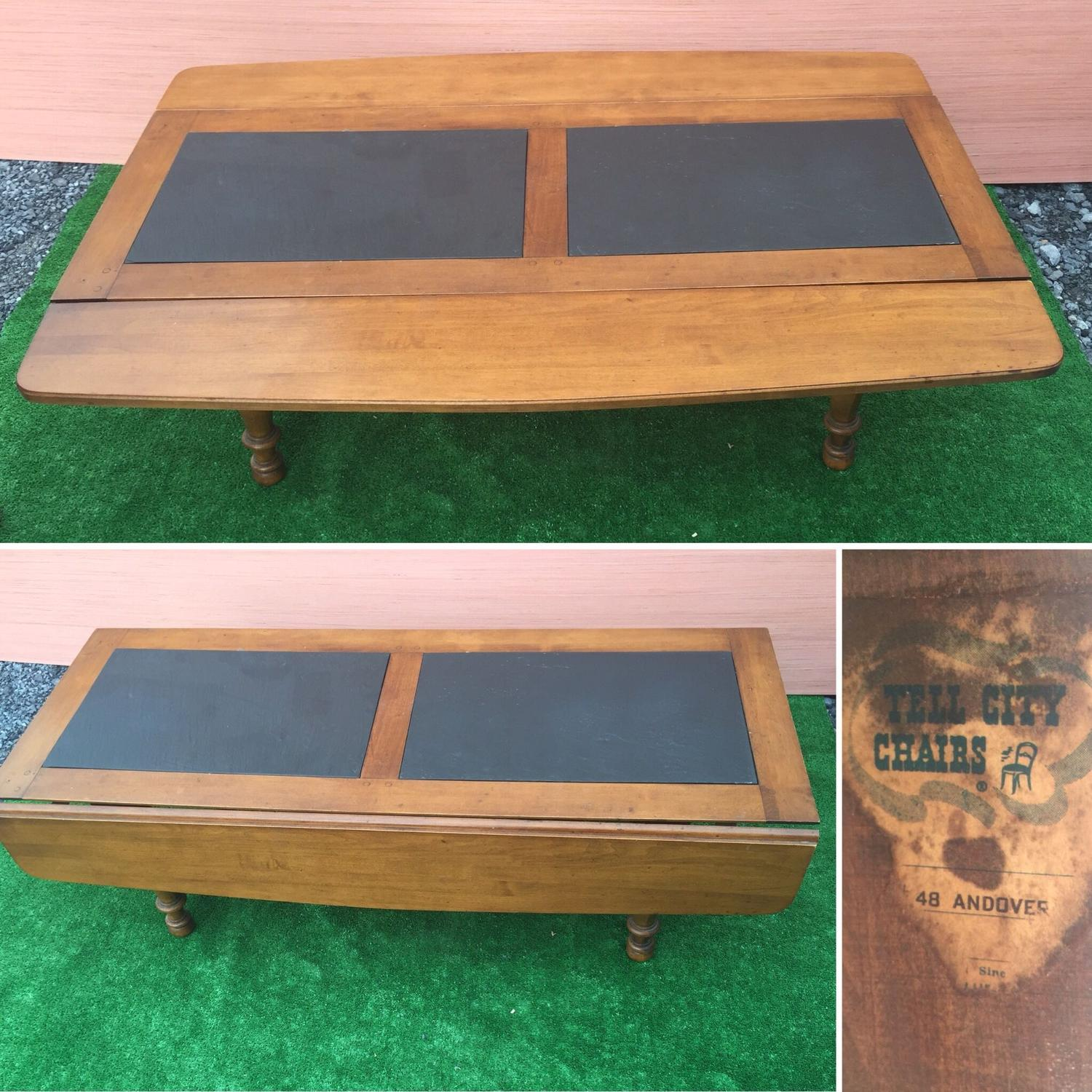 Slate Coffee Table Canada: Best Drop Leaf Slate Top Coffee Table