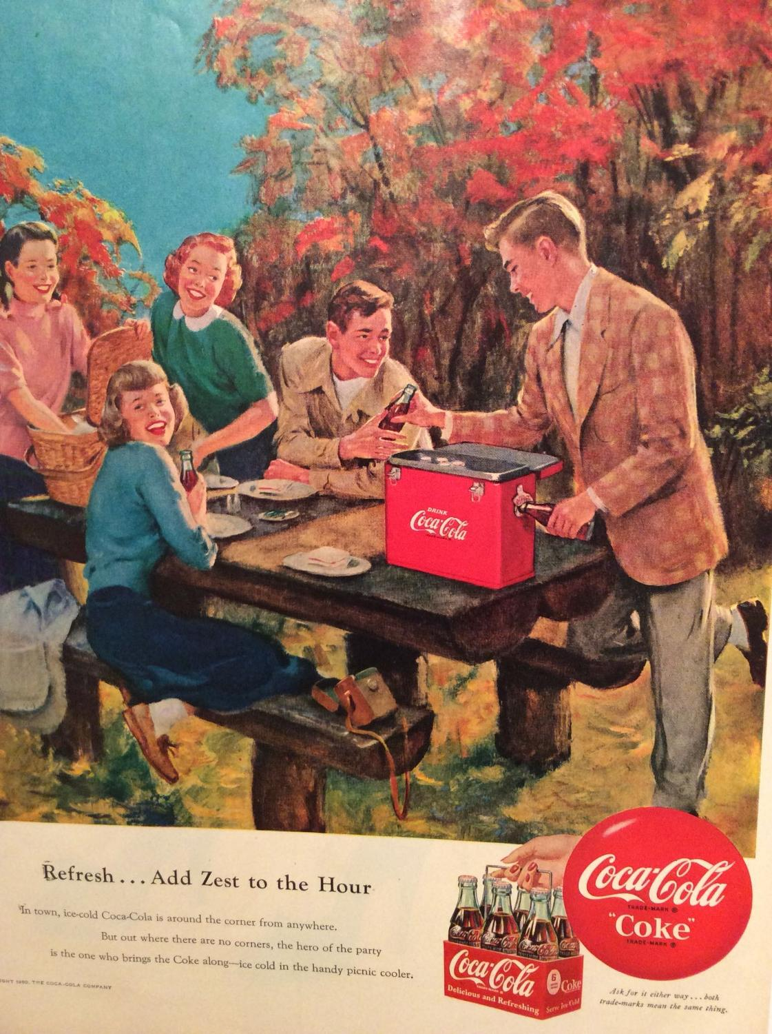 Best Coca Cola Coke Ad Vintage Copyright 1950 For Sale In Dollard Des Ormeaux Quebec 2018