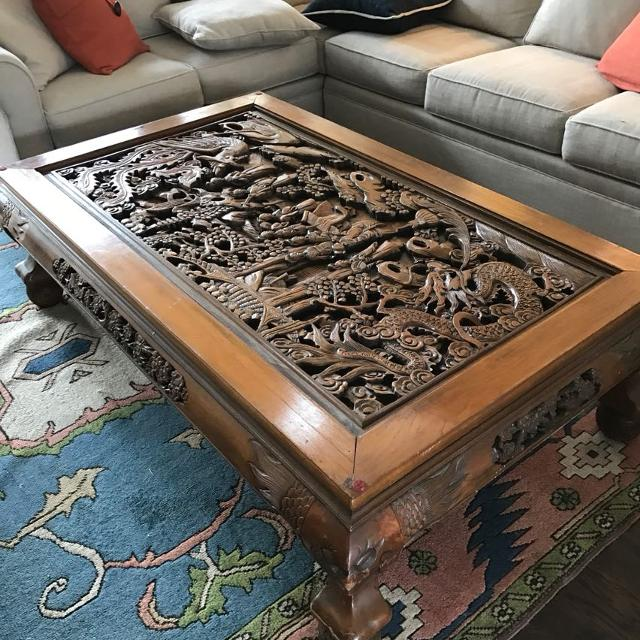 Chinese Relief Coffee Table: Find More Hand Carved Chinese Wooden Coffee Table. For