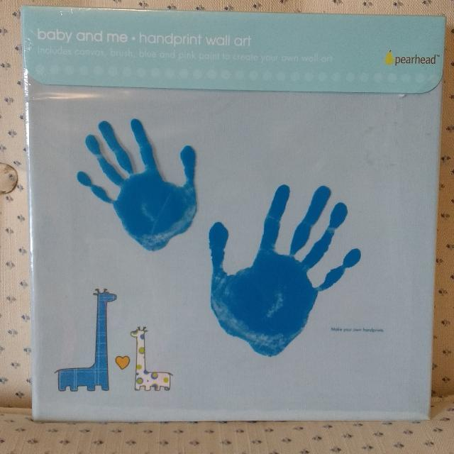 Best Bnip Baby & Me Handprint Wall Art By Pearhead Baby Gift for ...