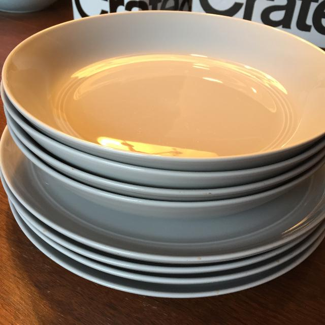 Find more Set Of 4 - Crate & Barrel Hue Dishes for sale at up to 90% off