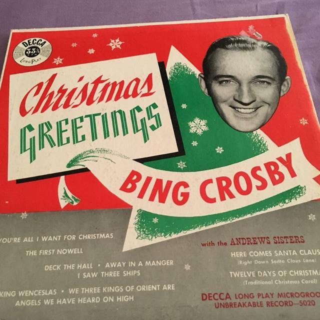 Bing Crosby Christmas Album.Christmas Greetings Bing Crosby Album