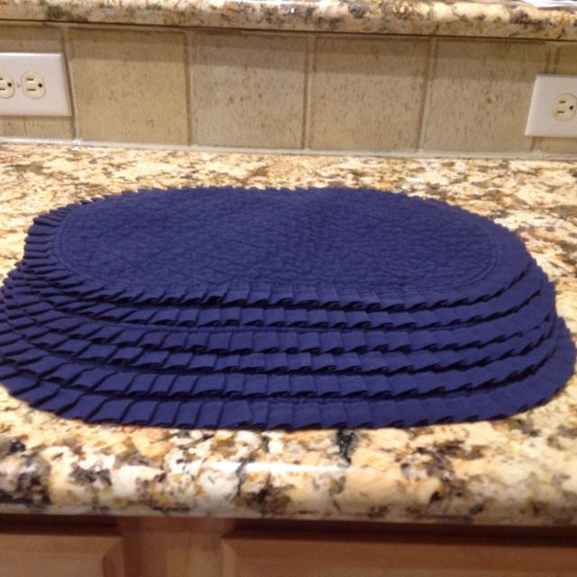 Navy Blue Quilted Placemats