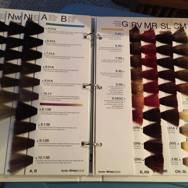 brand new rusk hair color swatch book - Hair Color Swatch Book