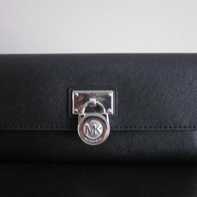 ef6ca29c99c124 Find more Authentic Michael Kors 'hamilton' Large Black Leather Flap ...