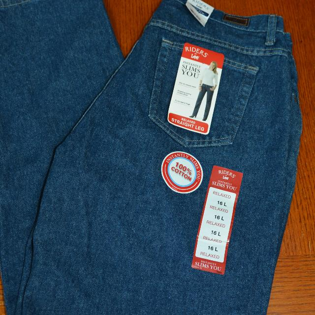 fabc1bcc Find more Lee Riders Relaxed Straight Leg Jeans Womens Size 16l Nwt ...