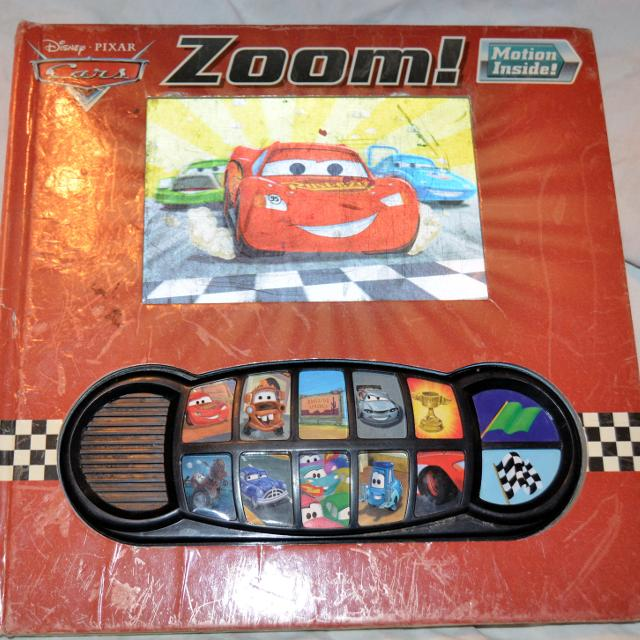 disney cars motion play a sound book