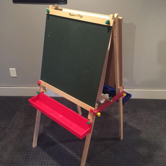 Melissa Doug Wooden Art Easel 4 Ft Tall