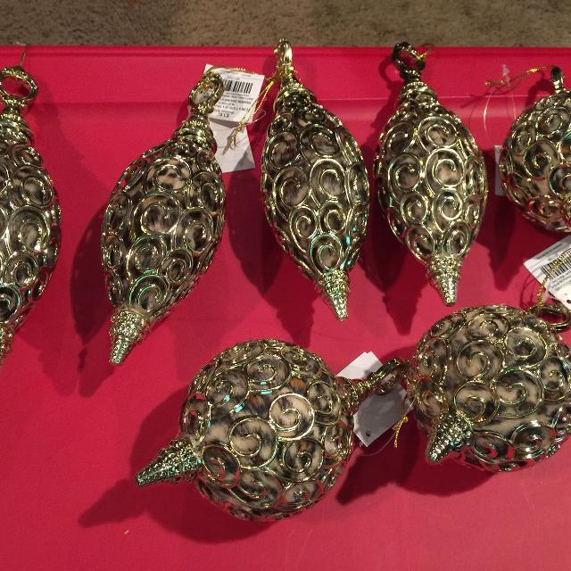 christmas cheetah ornaments on new with tags from hobby lobby