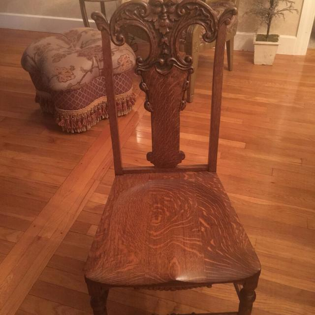 Antique Hand Carved Upright North Wind Chair (Mint Condition) - Best Antique Hand Carved Upright North Wind Chair (mint Condition