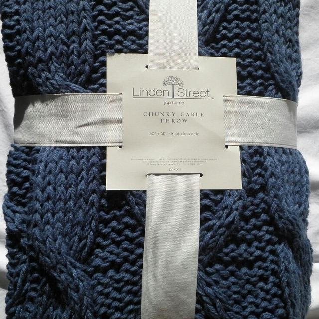 Best Linden Street Chunky Cable Knit Throw Blanket For Sale In