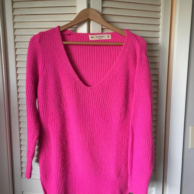 b5b939b3c6a Find more Zara Hot Pink Sweater for sale at up to 90% off