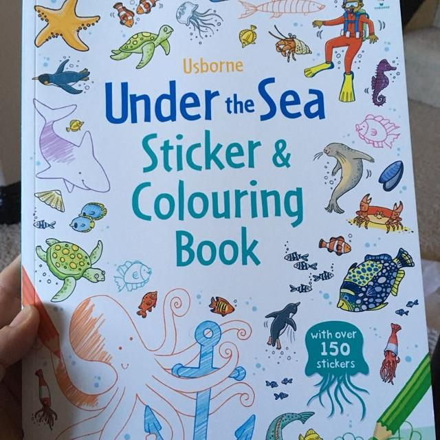 Find more New! Usborne Under The Sea Sticker Coloring Book for ...