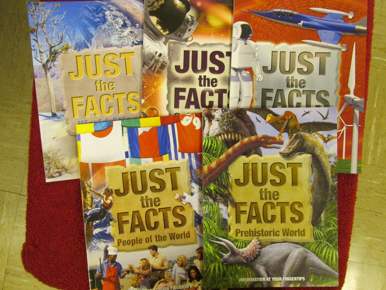 Five Just the Facts books, 60 pages each